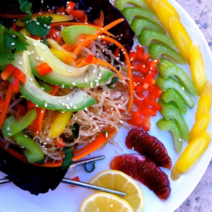 raw vegan gluten free pad thai kelp noodle
