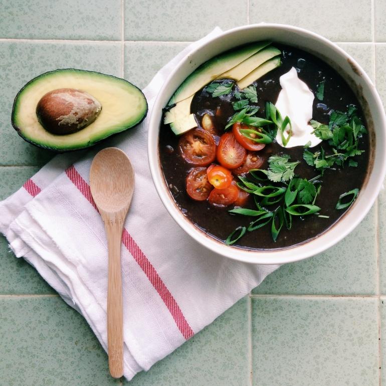 black bean soup gluten free vegan low fat