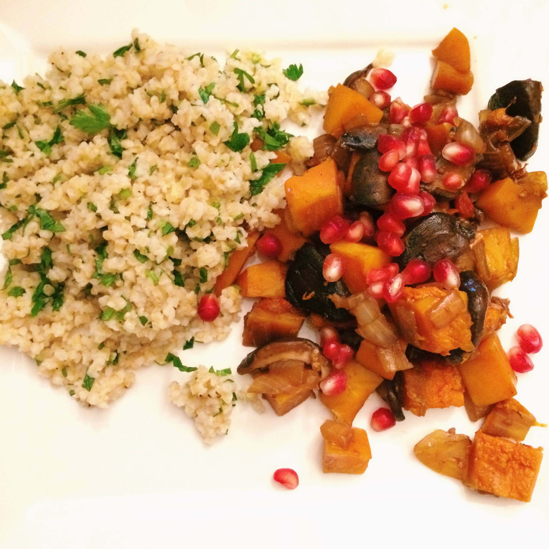 Butternut squash + Shiitake ragout | mama eats plants