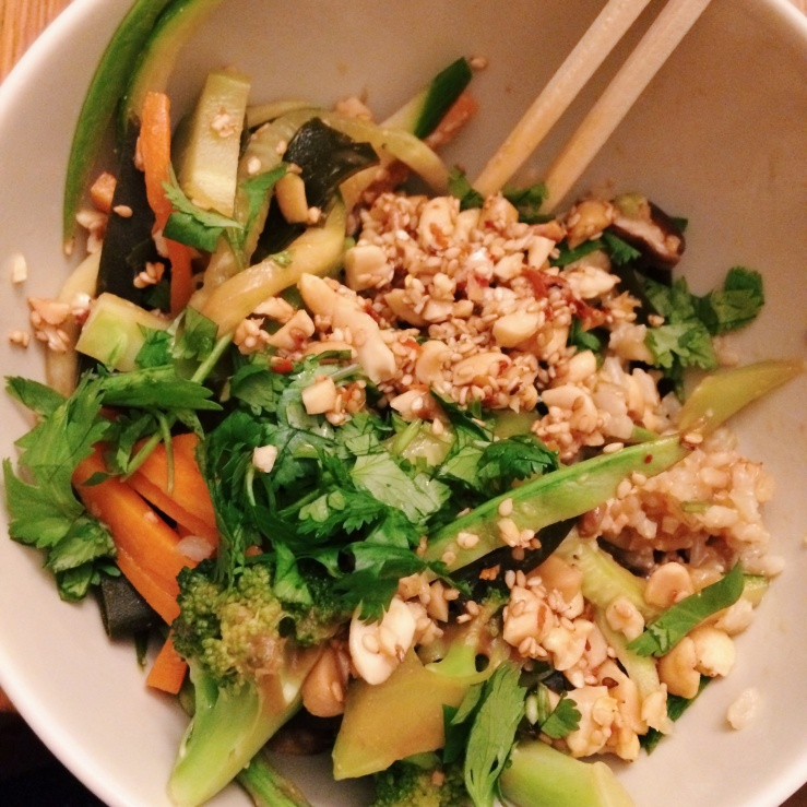 Vegan rice macrobiotic miso soy bowl vegetables winter
