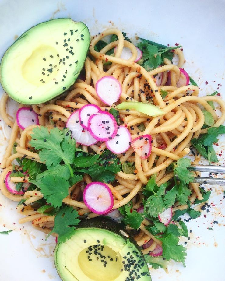 Peanut noodles vegan gluten free