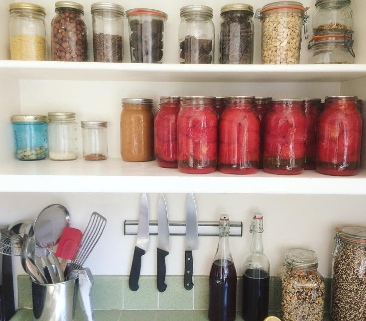 Vegan zero waste kitchen plastic free trash jar sustainable eco family
