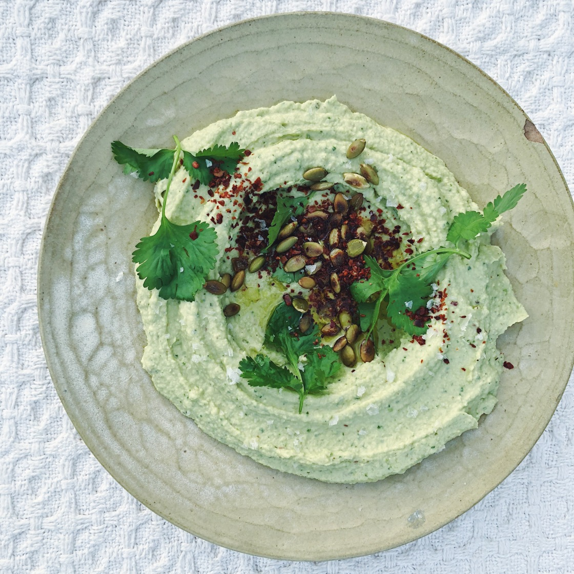 vegan avocado hummus cilantro gluten free plant based