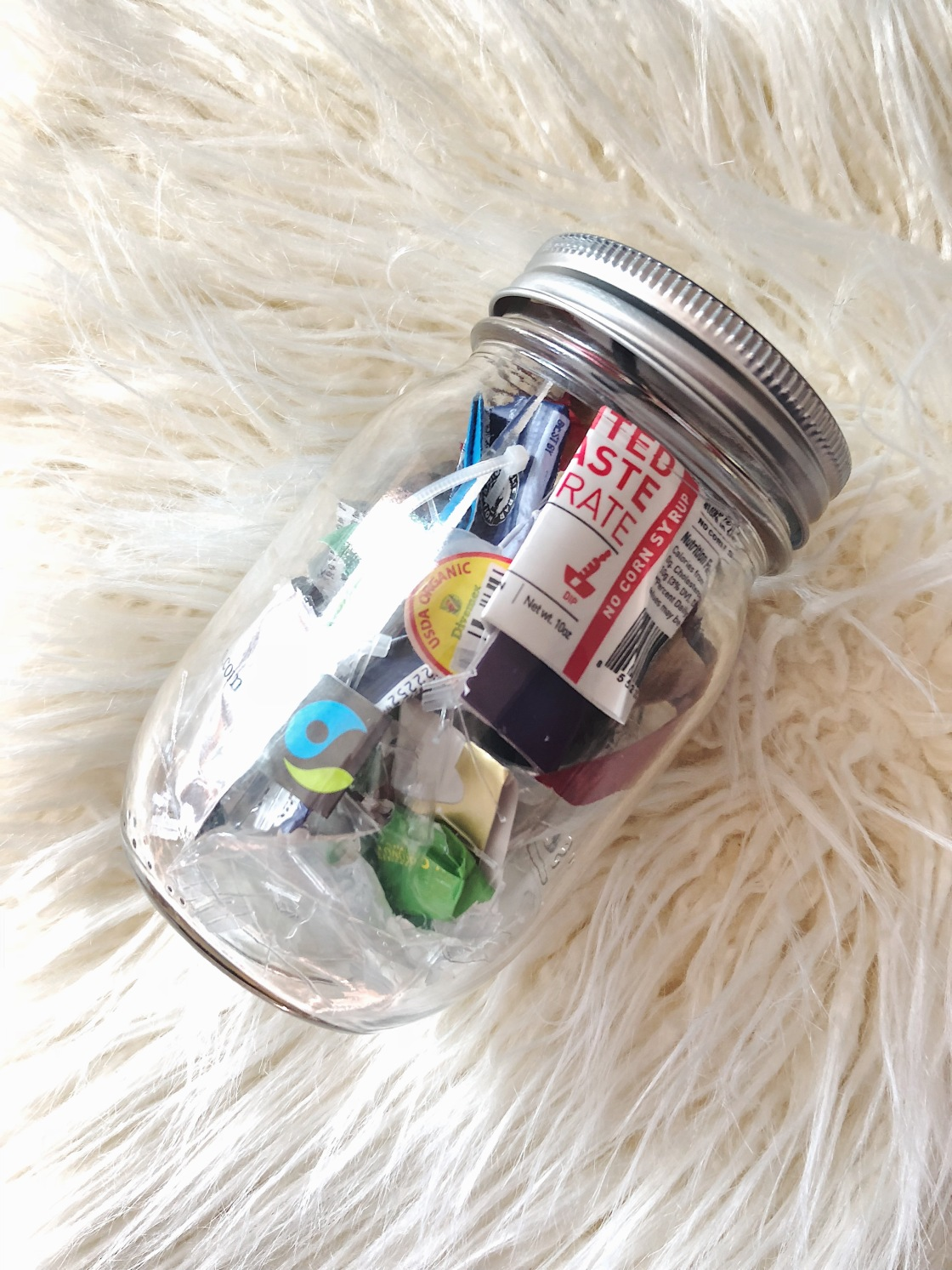 Family Trash jar zero waste landfill
