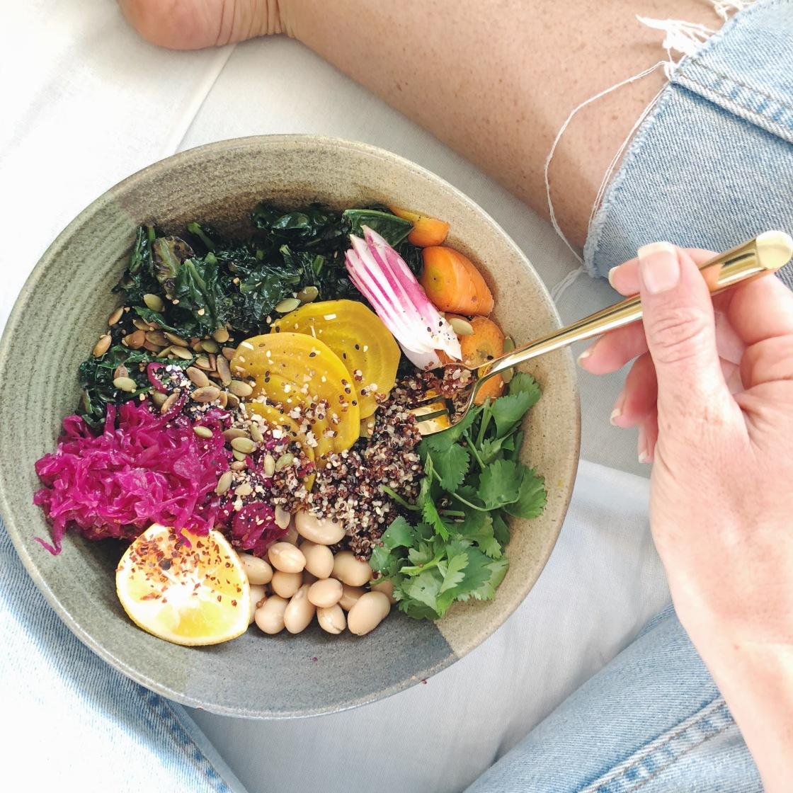 quick easy healthy vegan Buddha bowl gluten free