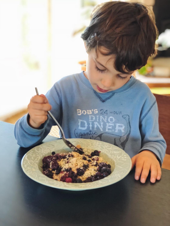 healthy vegan kids porridge omega 3 breakfast