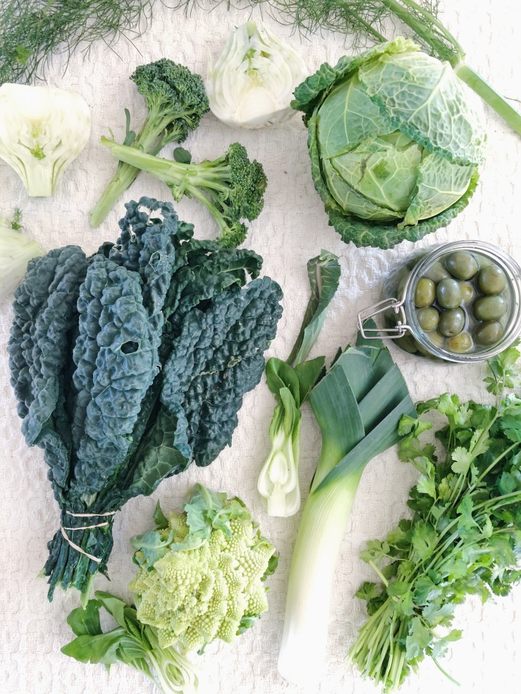 green winter kale leek romanesco meal plan