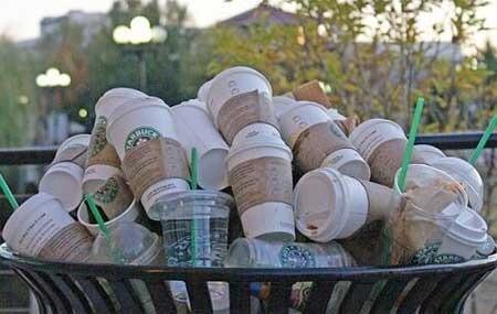 Starbucks plastic cup single use ocean pollution zero waste