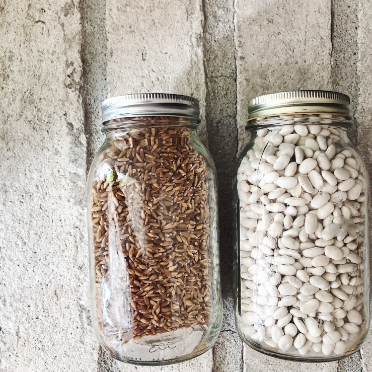 farro cannelini white bean mason jar zero waste shopping