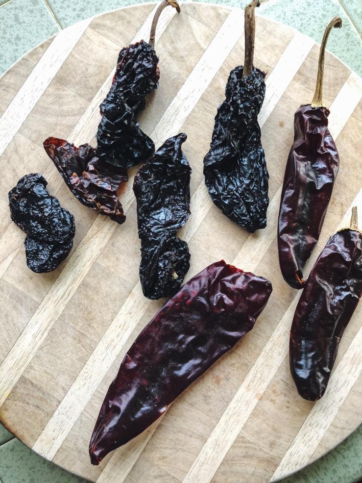 dried Chiles ancho guajillo