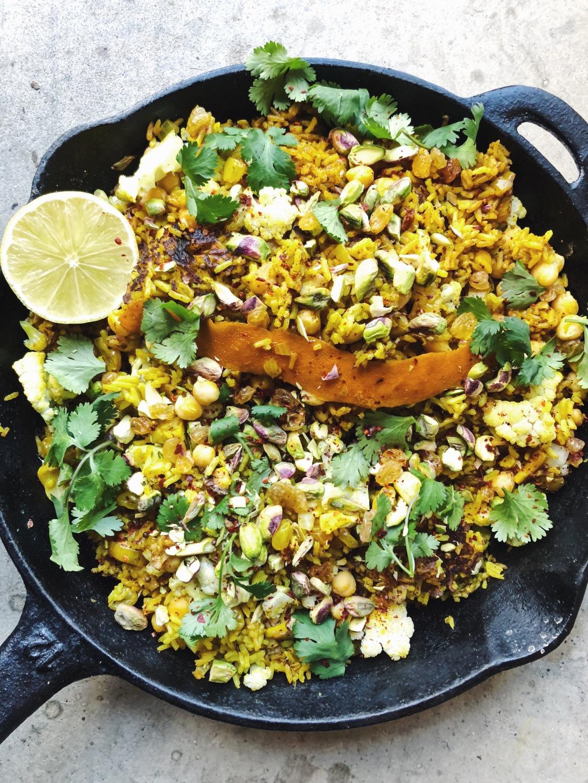 turmeric curry chickpea cauliflower rice