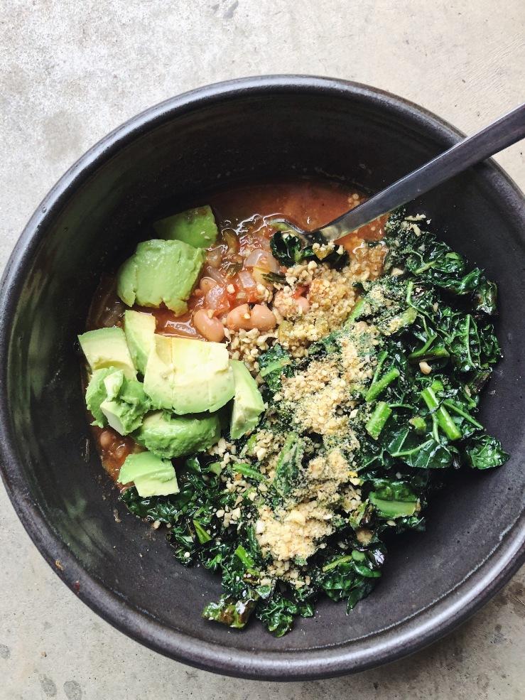 soup kale avocado vegan
