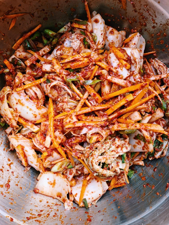 Kimchi vegan daikon tamari