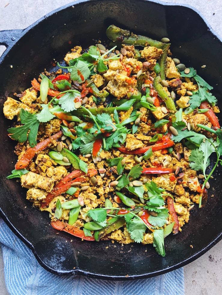 Tofu scramble vegan breakfast