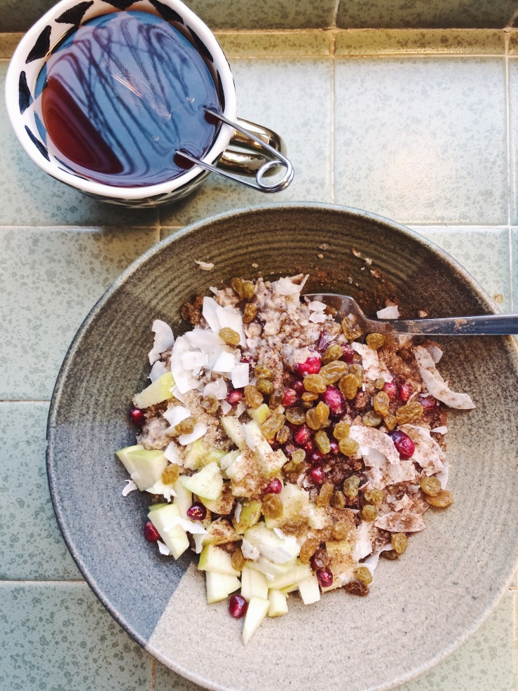 chia hemp cranberry porridge apple vegan omega
