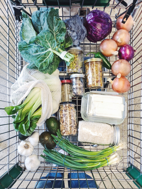 Zero waste vegan shopping