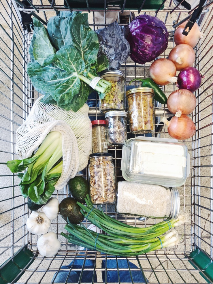 Zero waste vegan shopping