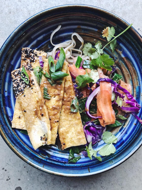 vegan pad Thai dinner
