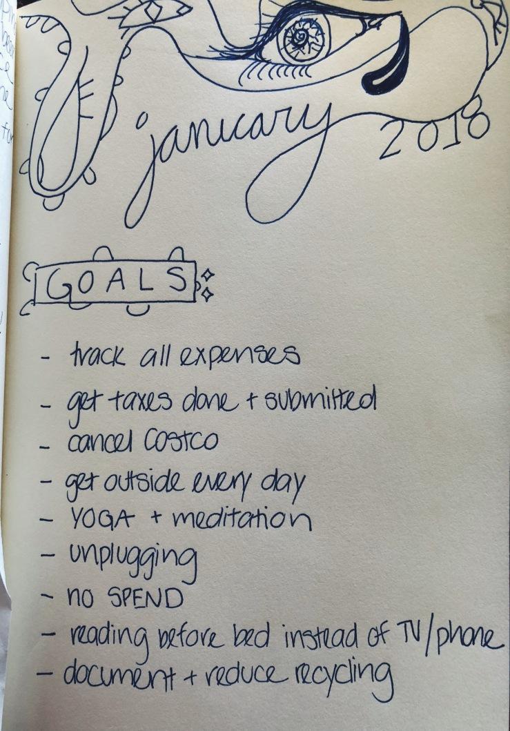 January 2018 goals sustainable