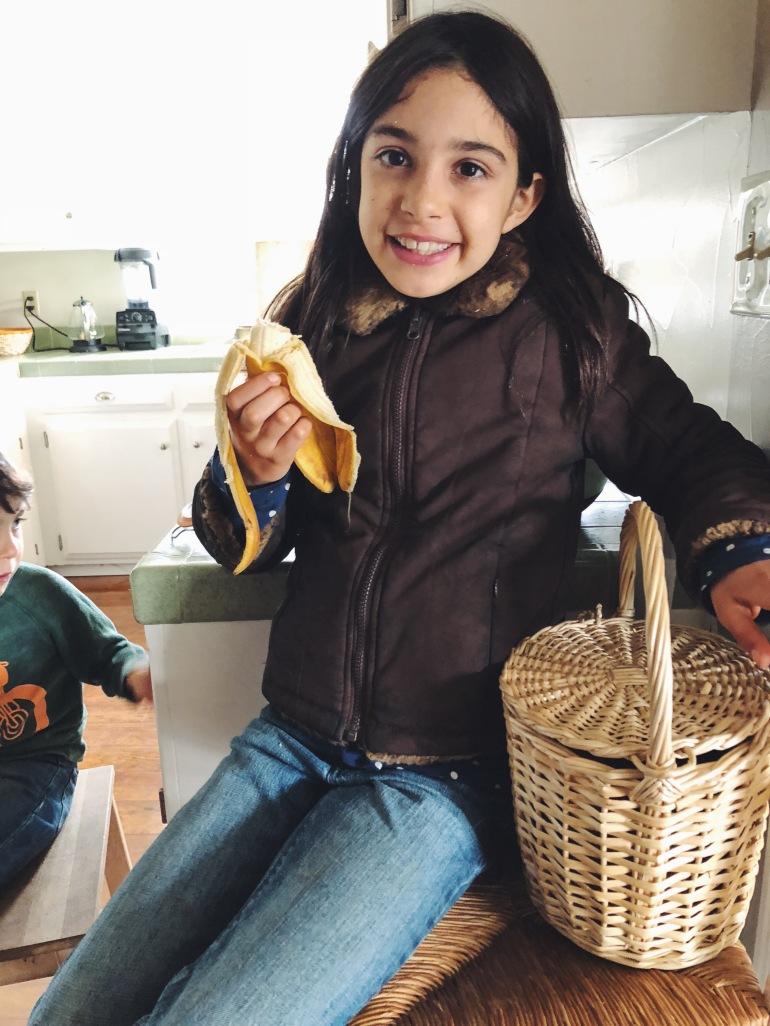 healthy vegan kids banana snack
