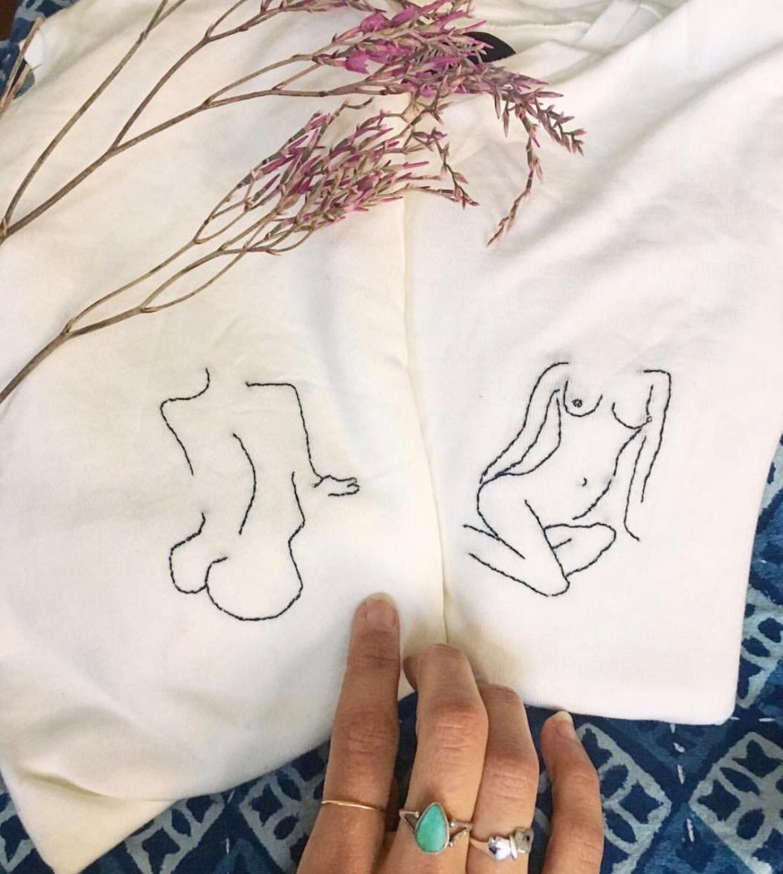 Embroidery body positivity