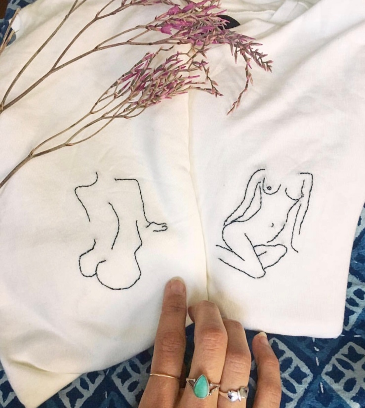 Embroidery body positivity