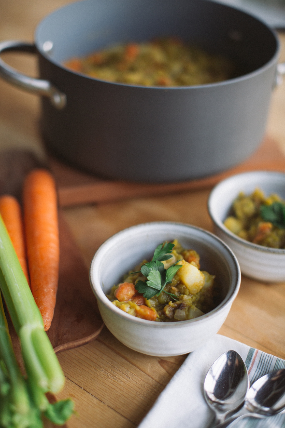 live planted vegan split pea soup
