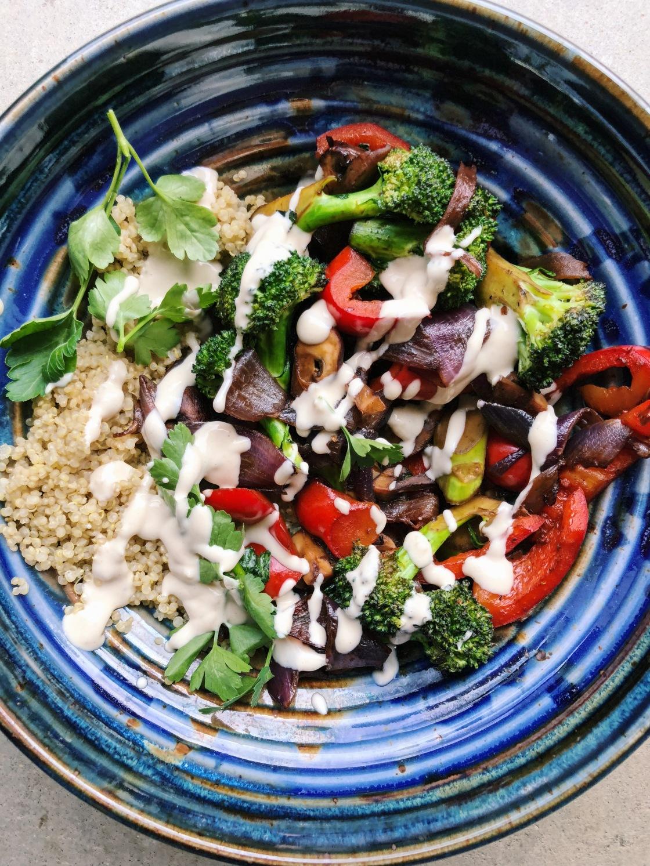 Tahini bowl quinoa gluten free