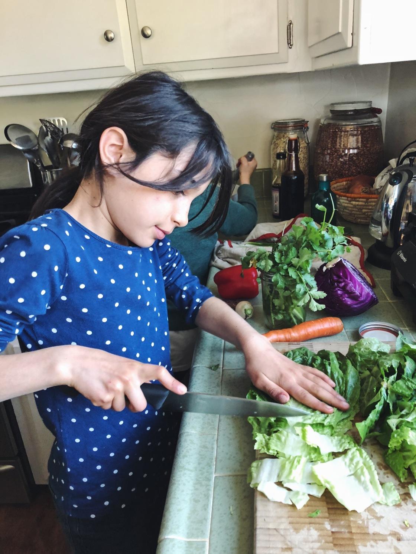 Vegan kids cooking