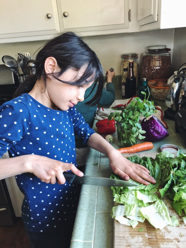 Vegan kids cooking