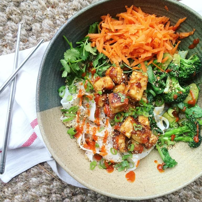 Vegan gluten free tofu tso