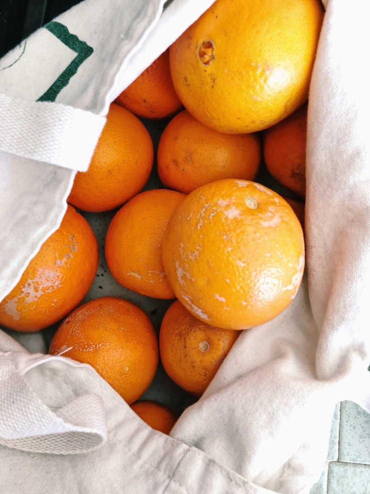 farmers market oranges zero waste imperfect