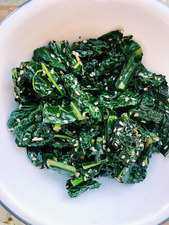 vegan sesame kale