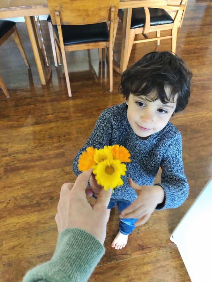 flowers vegan kid