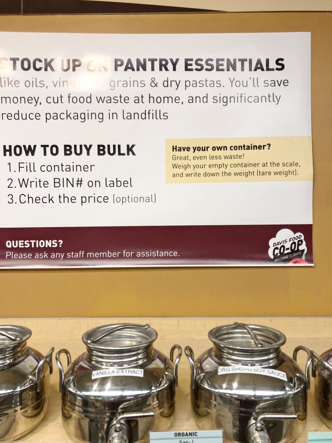 buying in your own jar