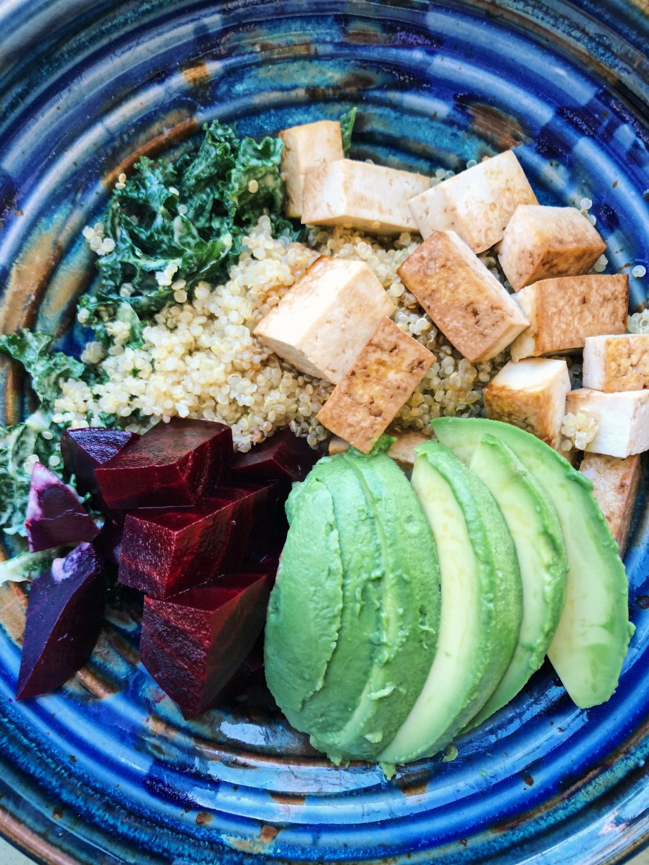 bowls beet avocado quinoa