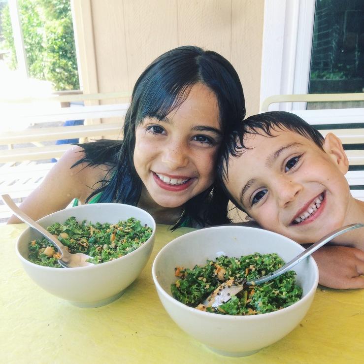Kale salad kids vegan