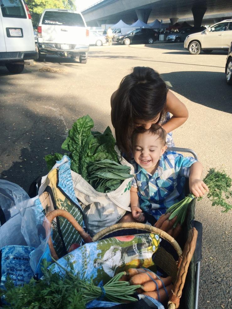 Vegan kids farmers market