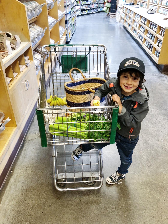 kids vegan shopping zero waste