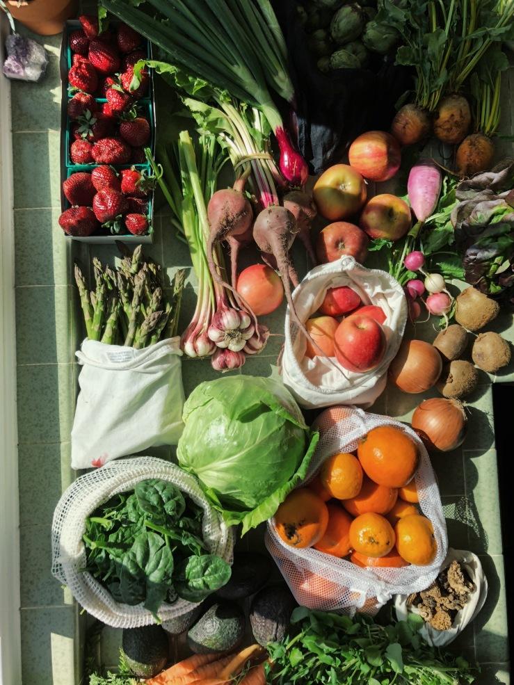 farmers market zero waste vegan