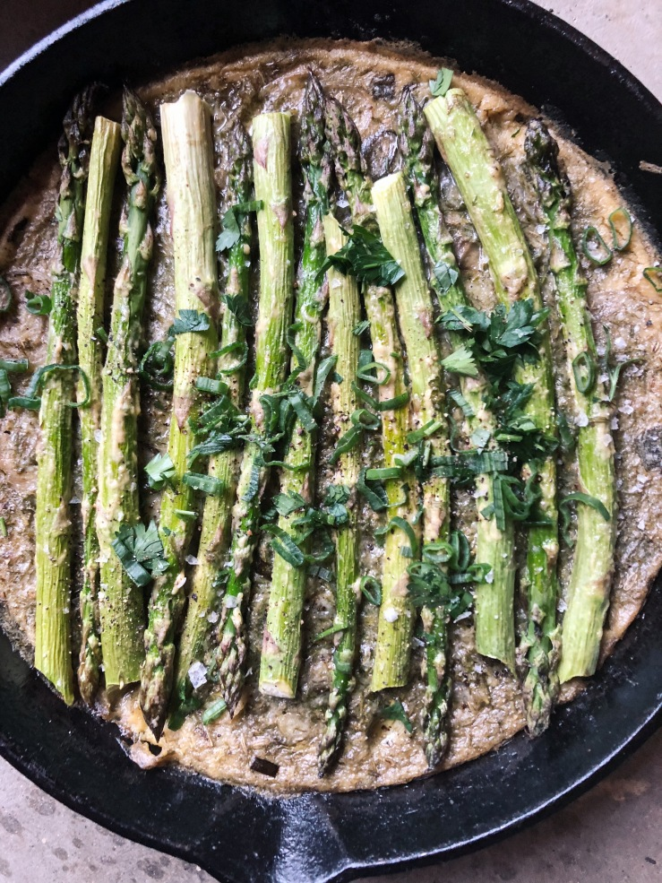Frittata vegan asparagus chickpea flour