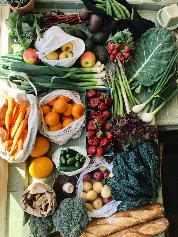 local seasonal spring produce meals vegan