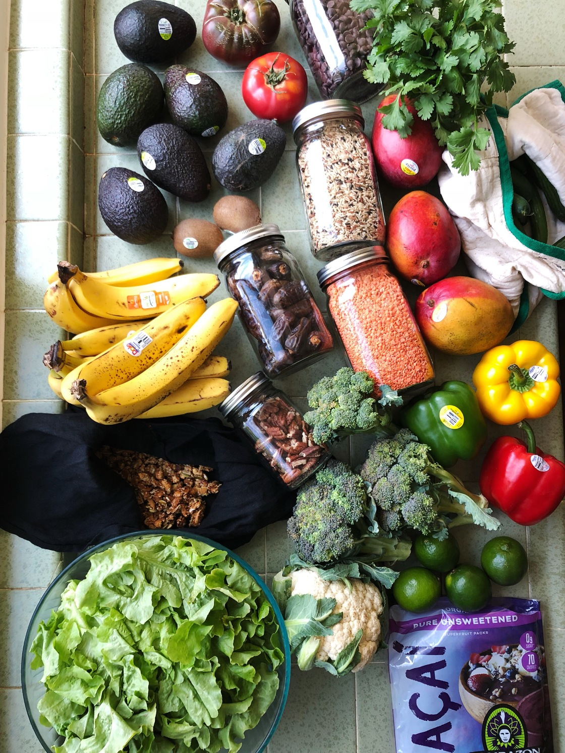 grocery haul low waste