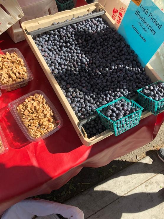 Blueberries farmers market