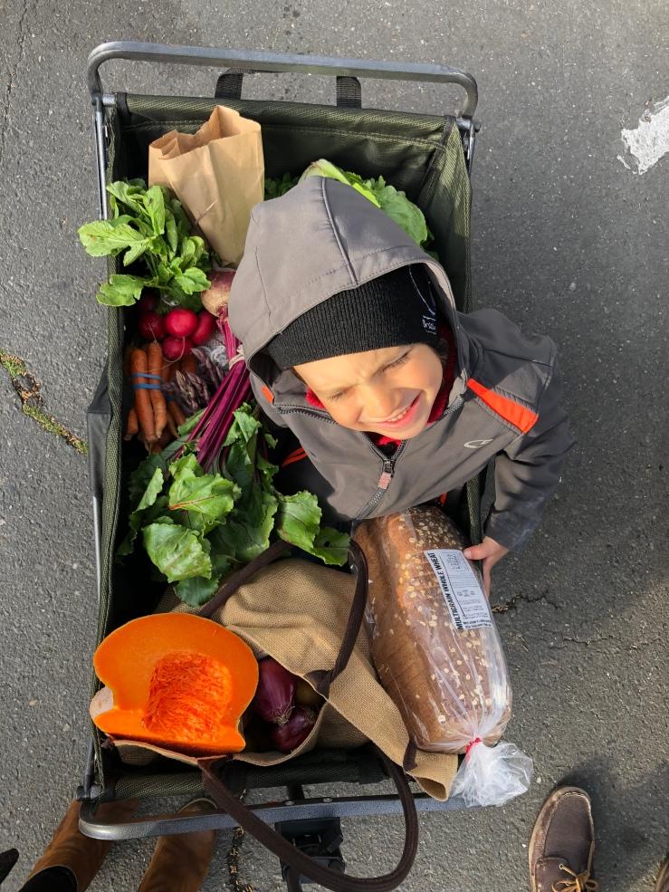 vin farmers market cart
