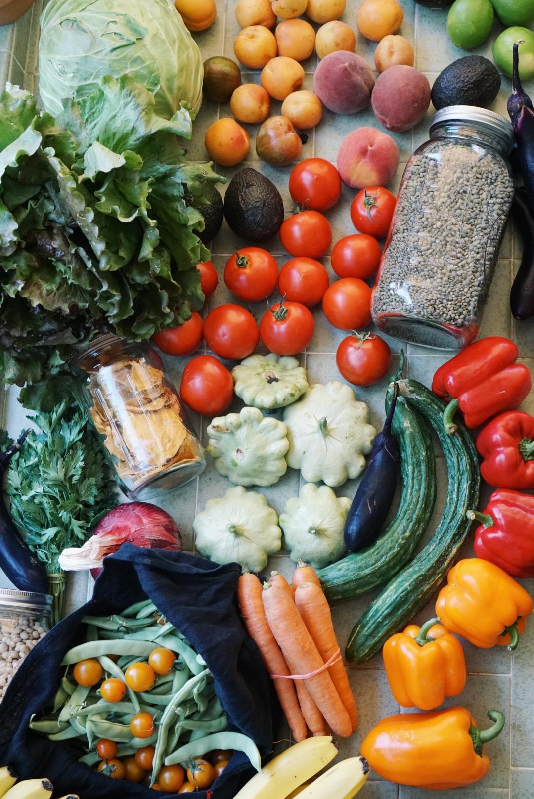market haul zero waste vegan