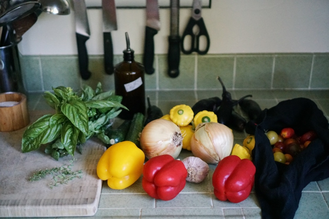 Ratatouille zero waste package free vegan
