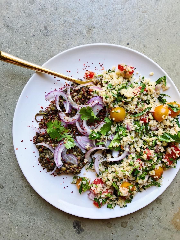 lentils tahini tabbouleh