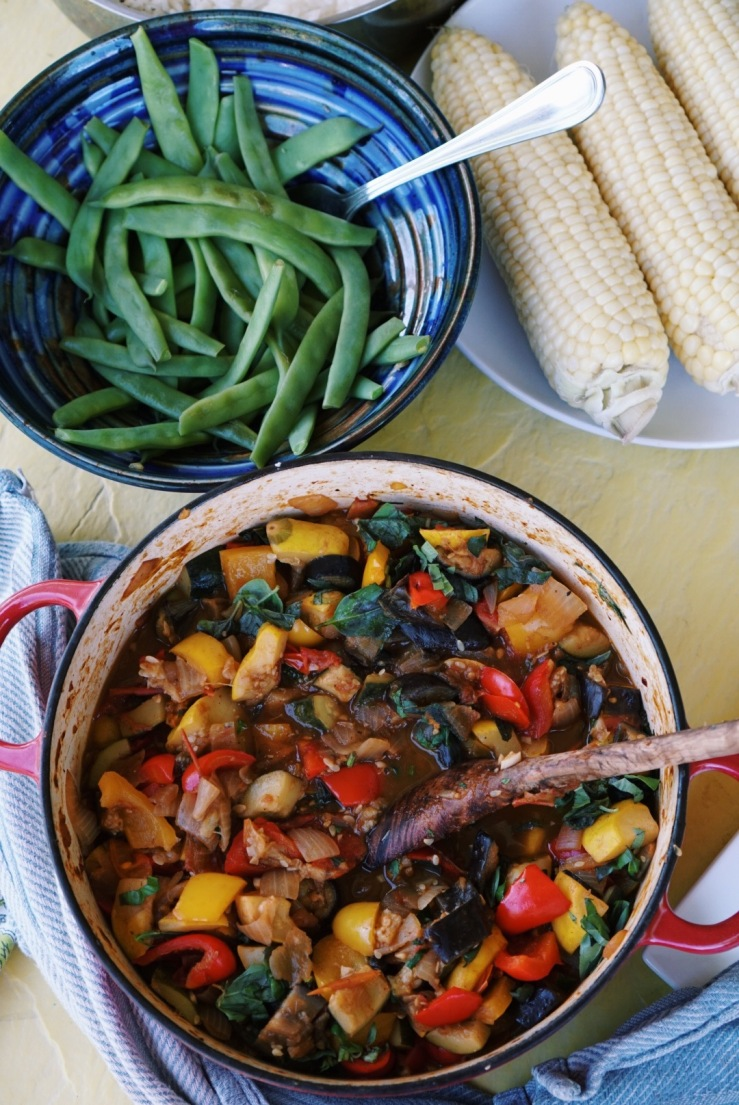 Ratatouille dinner summer vegan