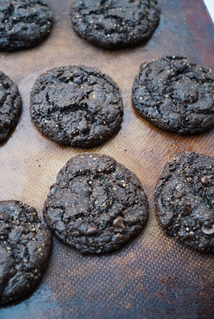 Flourless chocolate cookies vegan oil free